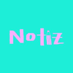Notiz Schrift in hellen pink, wobei i als Bleistift gezeichnet, Hintergrund mint einfarbig
