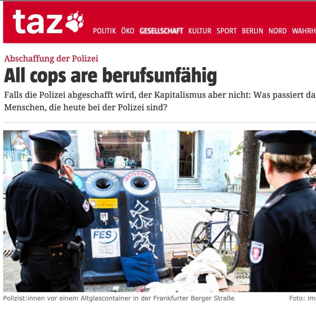 All cops are berufsunfähig Screenshot