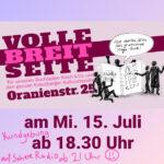 Volle Breitseite für unseren Buchladen Kirsch & Co und den ganzen Kreuzberger Kulturstandort Oranienstr. 25 am Mi 15. Juli Kundgebung ab 18.30 Uhr, auf Sphere Radio ab 21 Uhr