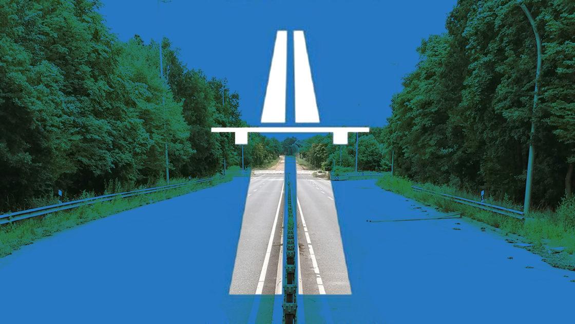 Autobahn auf der ehem Wilhelmsburger Reichsstraße